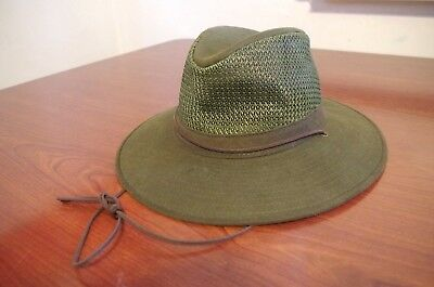 Vintage ORVIS Breezer Sun Hat Size Medium Sportsman Boating Outdoors Made  in USA 8336c85e6562