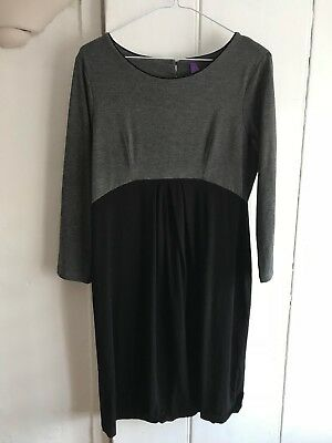 Seraphine grey and black maternity dress - size 10