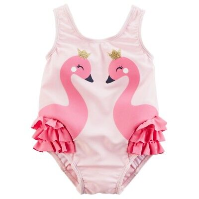 937b9e037bb04 LITTLE ME BABY Girl's One Piece Tutu Swimsuit, Pink Print Size 6-9 M ...