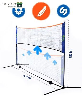 Street Tennis Club Portable 10 Foot Long and 5 Foot High - Adjustable Height Bad