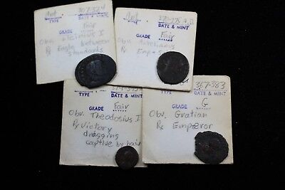 Ancient  4  assorted coins   lot H 865