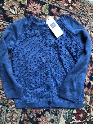 e59a8397e BABY GAP Baby Girl Sweater Size 18–24 Months Ivory Waffle Knit ...