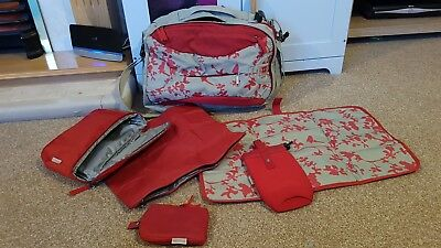 Baby Mule Original Limited Edition Print Changing Bag Red / Grey