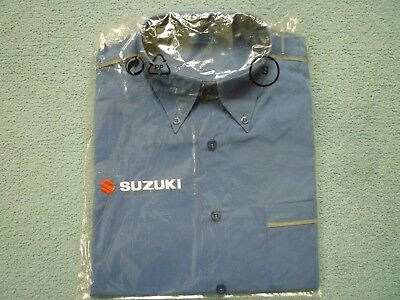 Suzuki Team Shirts x 2-size S(1x Brand new-1 x used) Blue with Embroidered Logos