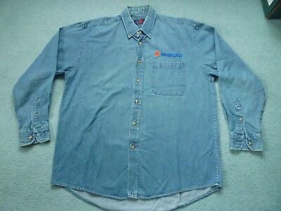 Suzuki Branded Denim Shirt-Size L-Hardly Used-Embroidered Logo