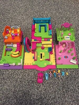 Polly Pocket mini houses town vintage set