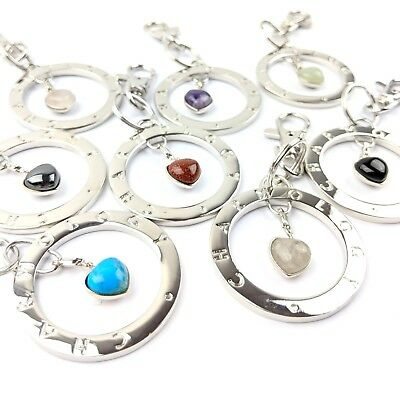 Job Lot Wholesale 8 X Gemstone Charmology Bag Charm Key Ring Ch153