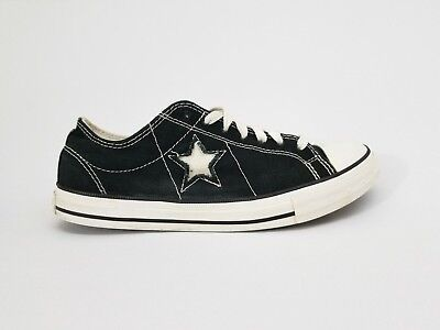 Converse One Star Black Canvas Low Top Shoes Size Womens 9