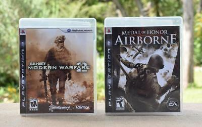 2 Games PLAYSTATION 3 MEDAL OF HONOR AIRBORNE + CALL OF DUTY MODERN WAREFARE 2