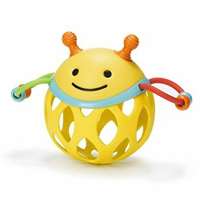 Skip Hop Roll Around Baby Rattle Bee Inspired Colourful Play Toy Fun Teething
