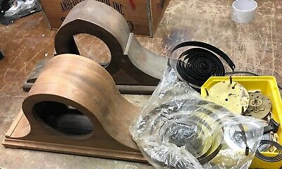 Vintage  Wood Mantle  CLOCK Cases Lot Of 2 Plus Parts