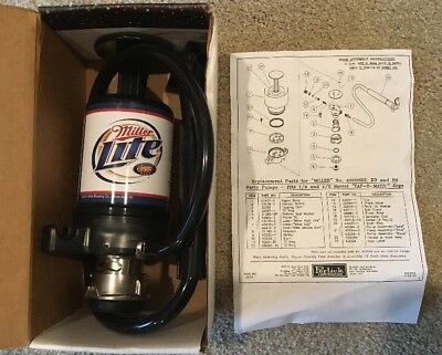 Perlick Party Pump Portable Beer Keg Tap with Picnic Faucet Miller Lite 40000B3