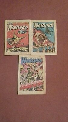 WARLORD COMICS x3 ISSUES FROM 1979.