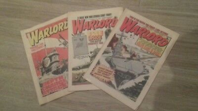 WARLORD COMICS x3 ISSUES FROM 1978.
