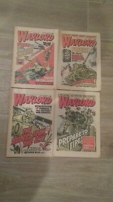 WARLORD COMICS x4 ISSUES FROM 1977.