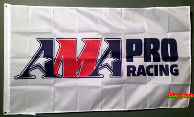 AMA AMERICAN MOTORCYCLIST ASSOCIATION FLAG BANNER flat track pro racing biker