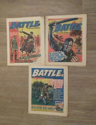 BATTLE PICTURE WEEKLY COMICS x3 ISSUES FROM 1977.