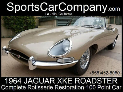 Jaguar XKE  1964 JAGUAR E-TYPE COMPLETELY RESTORED TO 100 POINT CAR STUNNING INSIDE & OUT!