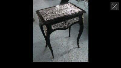2 Antique boulle style side tables