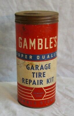 Vintage Car Auto Advertising Gamble's Garage Tire Repair Kit
