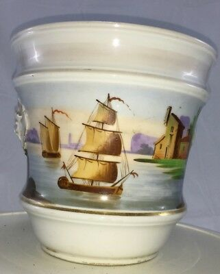 Continental Planter Hand Painted Porcelain
