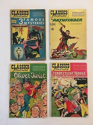 Classics Illustrated lot of 4 * 2.0 Gd or Better Comics Issues # 21 ,22 ,23 ,24
