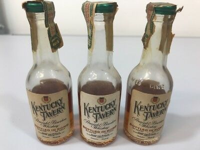1946 Kentucky Tavern Straight Bourbon Whiskey Mini's Sealed