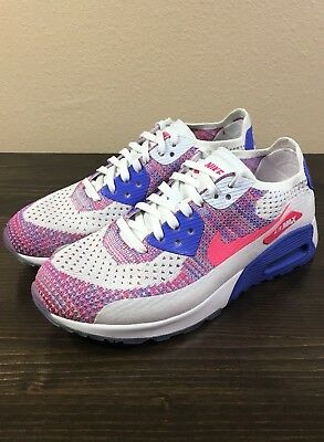 lowest price b08c1 0681e Nike Air Max 90 Ultra 2.0 Flyknit White Racer Pink-Medium Blue 881109-