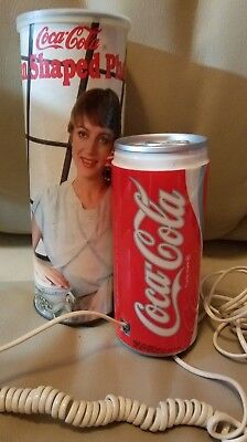 Vintage 1985 Coca Cola Phone Shaped Like A Can Original Can Packaging
