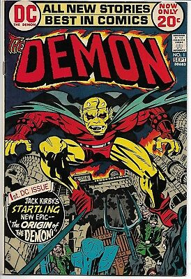 Demon #1 Kirby 1st Etrigan Jason Blood DC 1972 Fine/Very Fine (FN/VF) Bronze