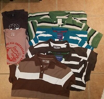 Mens clothing lot 20 pc Shirts / Polos size xl xxl Tommy Hilfiger, old Navy, AE
