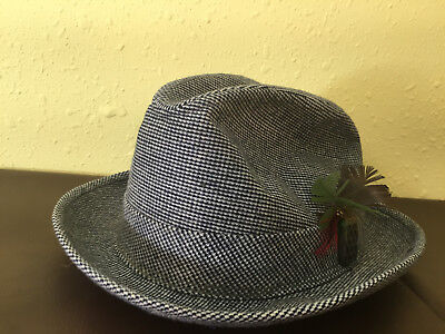 b7e6a005b45 VINTAGE MCGREGOR CORDUROY with Feather Beige Hat Size 7 1 4 - 7 3 8 ...