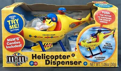 M&m Dispenser - Helicopter With Lights And Sounds, New In Orig. Box