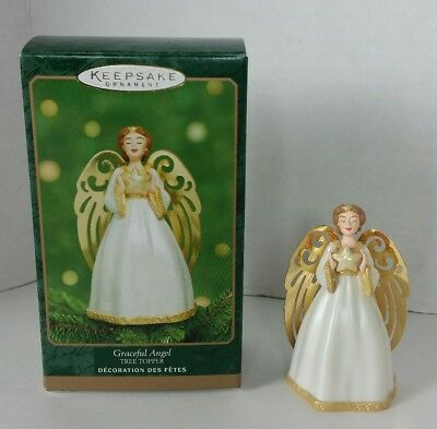 2001 Hallmark Miniature Tree Topper Graceful Angel