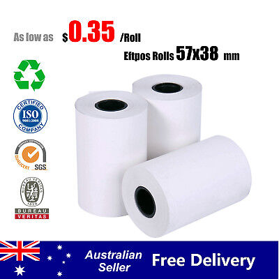 10/100/200/400 Pcs 57x38mm Eftpos Rolls Thermal Paper Cash Register Receipt