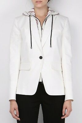 Veronica Beard Cutaway Dickey Jacket White 12 NWT $545