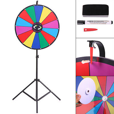 "New 24"" Tabletop Color Dry Erase Prize Wheel Fortune Spin Game Tradeshow"