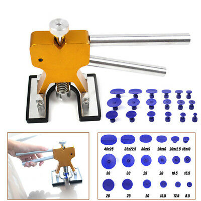 Car Paintless Dent Repair Tool Dint Hail Damage Remover Puller Lifter 18 Tab Kit
