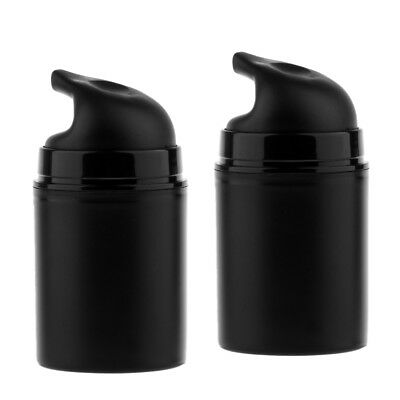 2pcs 50ml Empty Airless Cosmetic Cream Lotion Bottle Pump Bottles with Cap