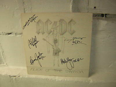 Ac/dc Signed Lp Flick Of The Switch 1983 Malcolm Young Phil Rudd