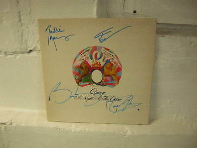 Queen Signed Lp Night At The Opera 1975 Freddie Mercury Brian May