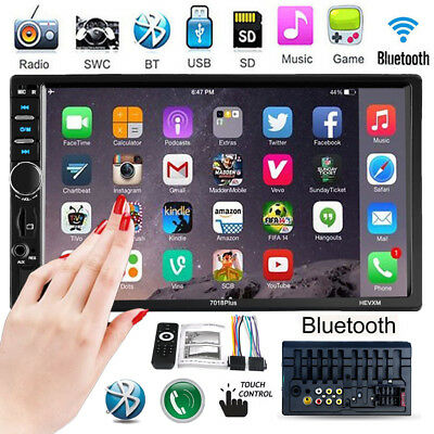 """Double 2Din 7""""HD Touchscreen Car Stereo Radio MP3 MP5 Player Bluetooth FM/USB/TF"""