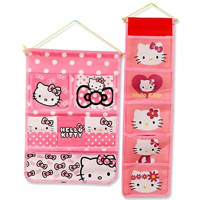 Finex Set of 2 Hello Kitty wall hanging over the door storage organizer pockets