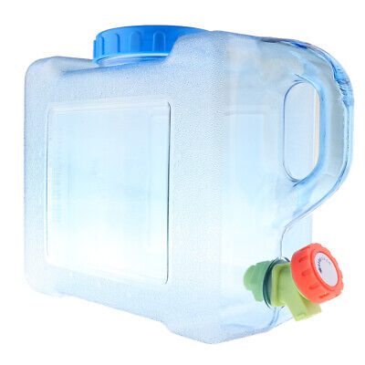 5L/8L Outdoor Camping Water Carrier Container with Water-tap, Leak Proof Lid