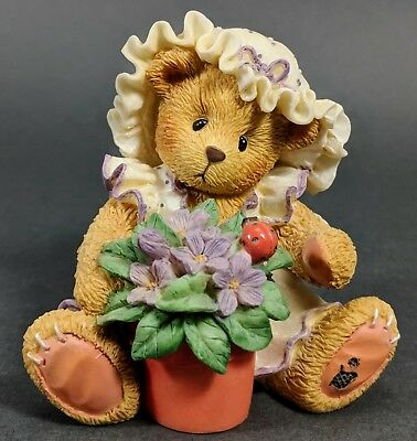 *MINT* Cherished Teddies ~ Violet - Blessings Bloom When You Are Near (156280)