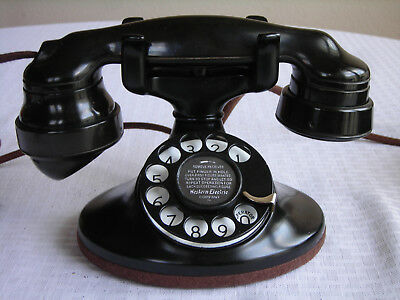 Western Electric 202 E-1 Restored Art Deco Antique Telephone Circa 1930. Working