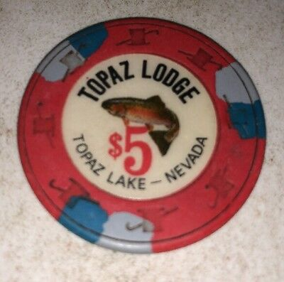 Topaz Lodge $5 Casino Chip Topaz Lake Nevada 2.99 Shipping