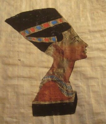 Egyptian Original Handpainted Papyrus Queen Cleopatra