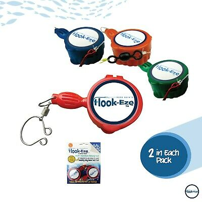 Hook Eze Reef & Blue Water Twin Pack - Blue, Green & Red