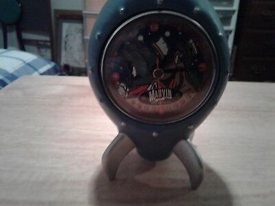Marvin The Martian Space Ship Clock With K-9, Warner Bros. Studio 1995 NO BOX